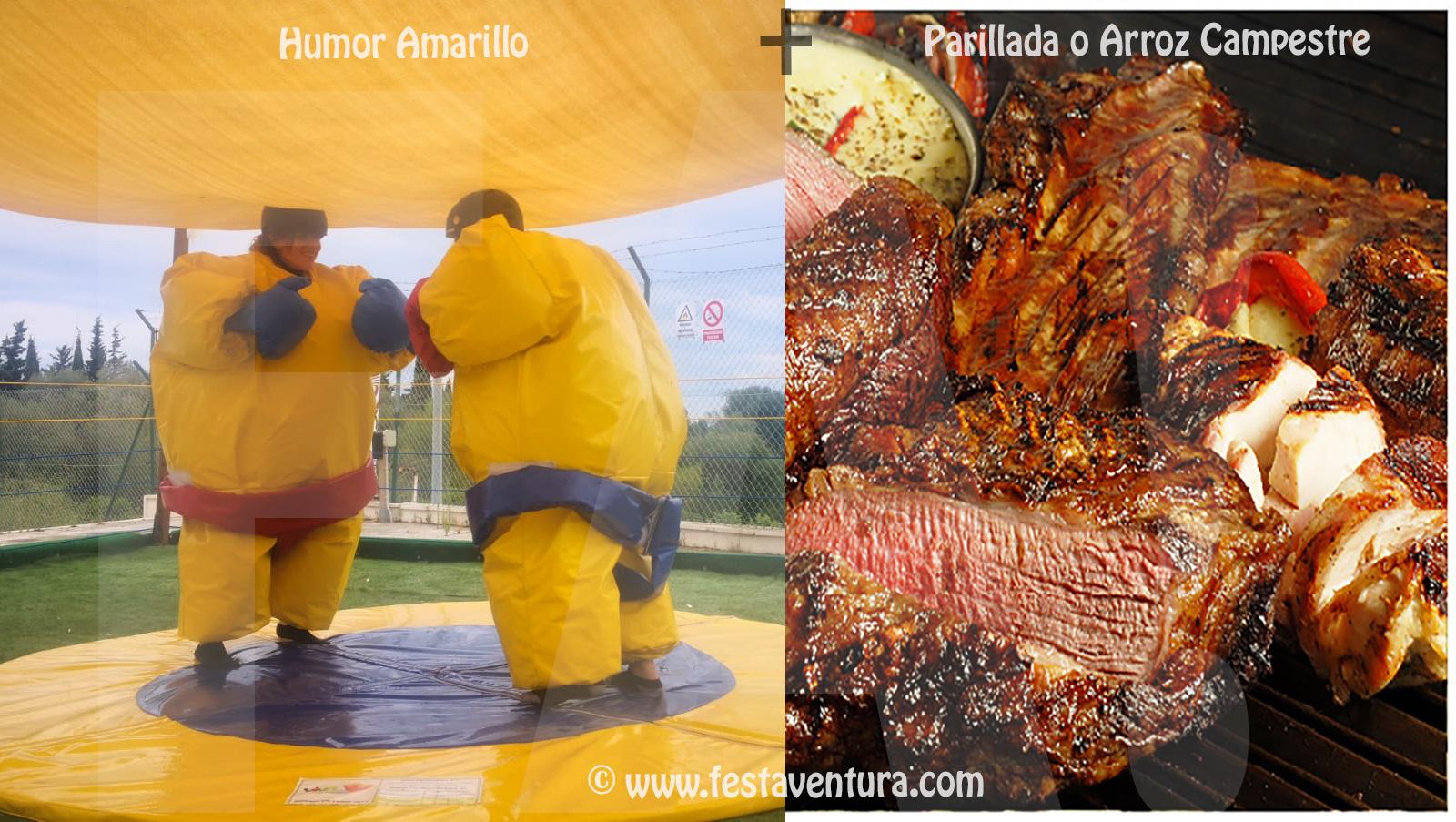 Humor Amarillo + Comida con barra libre en Sitges